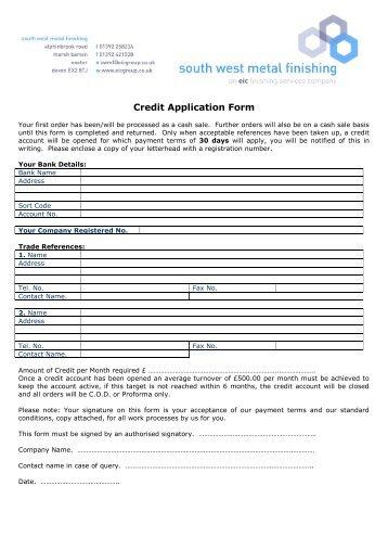 CUSTOMER COPY CREDIT APPLICATION FORM - GAP Group