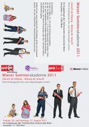 Einladung Sommerakademie 2011 (pdf) - Wiener Bildung