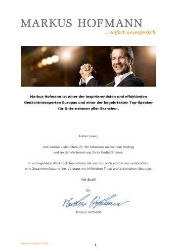 Unterlagen Markus Hofmann