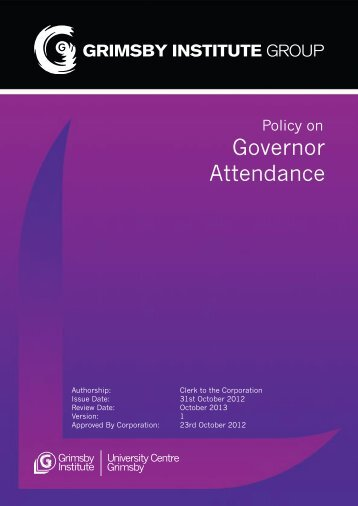 Policy on Attendance