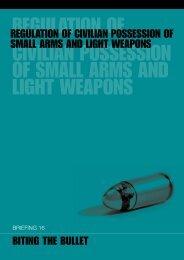 regulation of civilian possession of small arms and light weapons