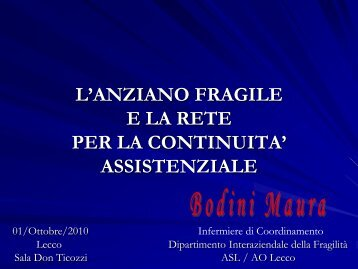 bodini maura - Osservatorio per le Politiche Sociali della Provincia ...