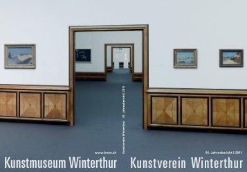 Jahresbericht 2011 - Kunstmuseum Winterthur