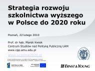 Strategia rozwoju szkolnictwa wyższego w Polsce do 2020 roku