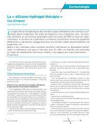 La « silicone-hydrogel thérapie » - Contacto.fr