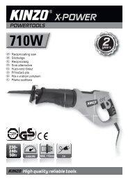 High quality reliable tools. X-POWER - KINZO