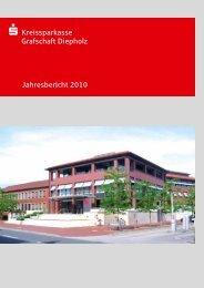Jahresbericht 2010 s Kreissparkasse Grafschaft Diepholz