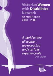 Annual Report 2008-2009 - Women with Disabilities Victoria