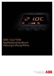 ABB i-bus® KNX Applikationshandbuch Heizung/Lüftung/Klima