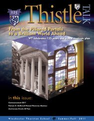 From the Pillared Portals to a Brilliant World - Winchester Thurston ...