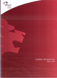 Programmes - NIE Digital Repository - National Institute of Education