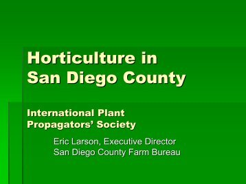Agriculture in San Diego County - International Plant Propagators ...