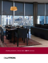 shading solutions |Sivoia QED® 230 V overview - Lutron