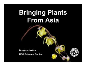 Bringing Plants From Asia