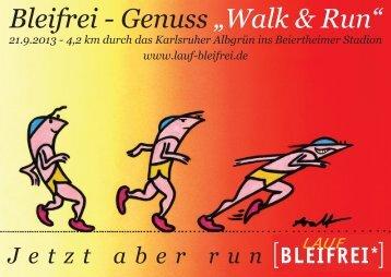 "Bleifrei - Genuss ""Walk & Run"" - Baden Marathon"