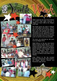 WAMS supported the local Youth Worker to conduct Youth Week ...