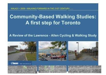 Download Community-Based Walking Studies PDF - Walk21