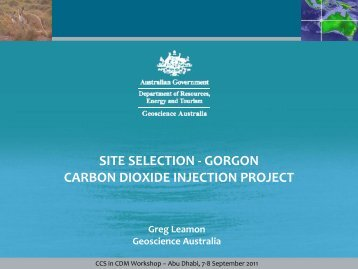 Gorgon CO2 injection project