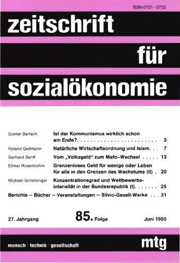 Untitled - Zeitschrift für Sozialökonomie