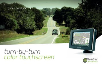 turn-by-turn color touchscreen - Todd Dugan Graphics — Home