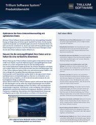 Trillium Software System (PDF / hier klicken).