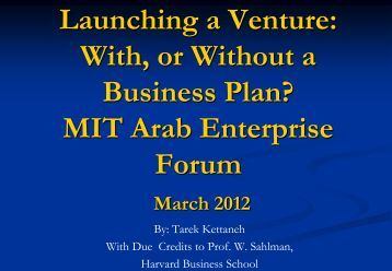 Mit business plan