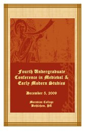 2009 conference program - Moravian College