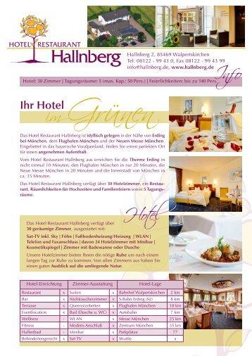 Ihr Hotel - Hotel Restaurant Hallnberg