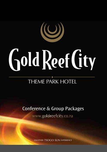 Download Conference brochure - Gold Reef City