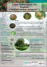 Lettre d'information n°2 Ecophyto « Comment jardiner autrement ? »
