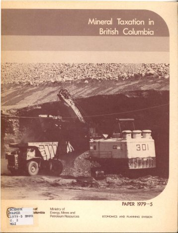 Mineral Taxation British Columbia - Government of British Columbia ...