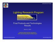 Lighting Research Program - Architectural Energy Corporation