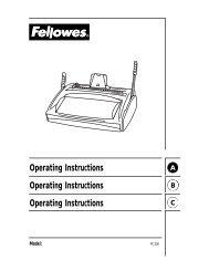 PC200 Manual - Fellowes