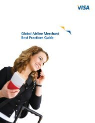 Global Airline Merchant Best Practices Guide - Visa