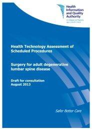 Surgery for adult degenerative lumbar spine disease - hiqa.ie