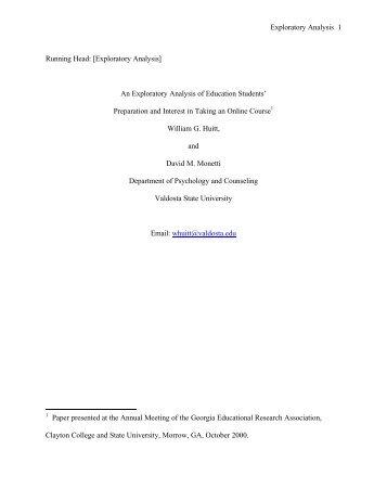 Exploratory Analysis - Educational Psychology Interactive