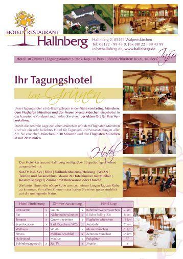 Rahmenprogramme - Hotel Restaurant Hallnberg