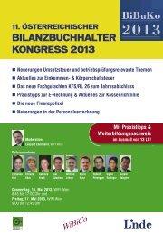 11. Österreichischen Bilanzbuchhalter-Kongress 2013 - WIFI Wien