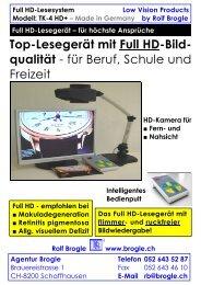 Full HD-Lesesystem: TK-4 HD+ - Agentur Brogle