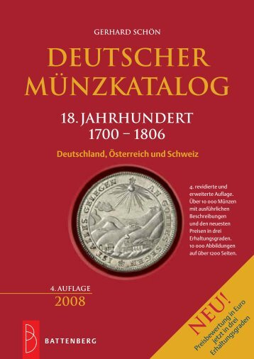 1806 DEUTSCHER MÜNZKATALOG 18.Jahrhundert ... - Gietl Verlag