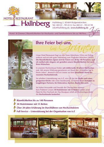 Ihre Feier bei uns - Hotel Restaurant Hallnberg