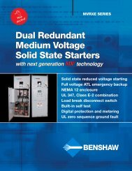 Dual Redundant Medium Voltage Starters - Royal Hydraulics