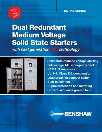 Dual Redundant Medium Voltage Starters - Royal Hydraulics