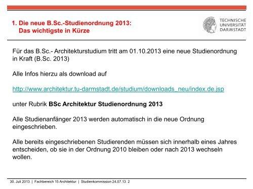 Informationen zum Studiengangwechsel BSc. mit ...
