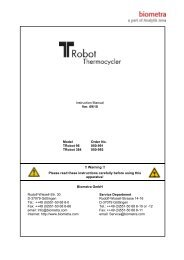 TRobot user manual - Biometra