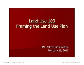 Land Use 103 Framing the Land Use Plan
