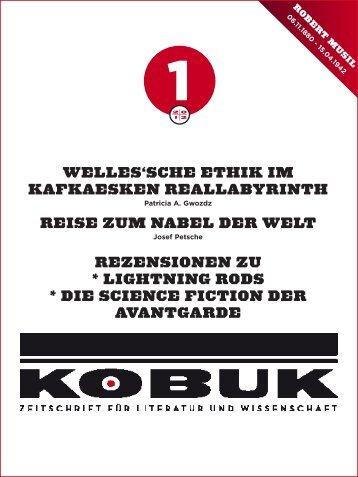 Aktuelle Tendenzen der Cyberpunk-Lite- ratur - Kobuk - Zeitschrift ...