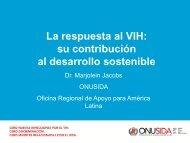 La respuesta al VIH: su contribución al desarrollo sostenible - CINU