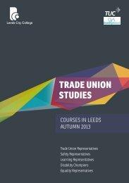 trade union studies - Leeds City College