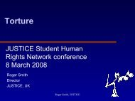 Torture and human rights - presentation - Justice
